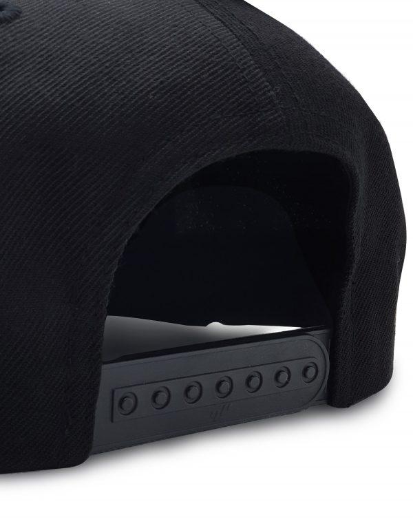 popupmatic snapbackcap schwarz hinten 1